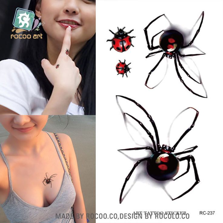Body Art waterproof temporary tattoos for men and women personality 3d spider  insect design tattoo sticker Wholesale RC2237