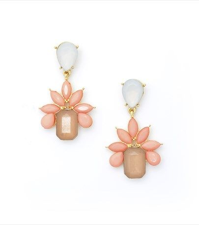 These gold  pink gem drop earrings are the perfect accessory to complement any summer outfit!