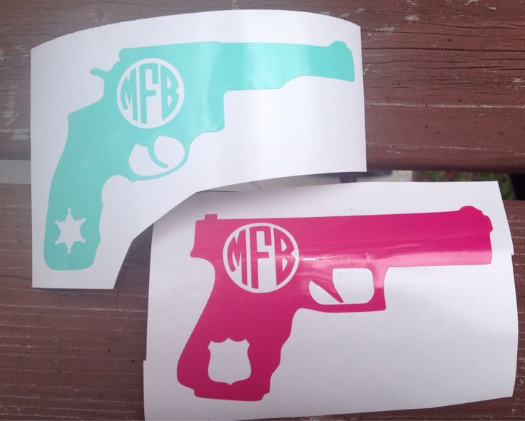 Personalized LEO Wife / Girlfriend Pistol Or Gun With Cut Out Deputy Star or Police Officer Badge Decal by BOWSandBADGES on Etsy https://www.etsy.com/listing/202670233/personalized-leo-wife-girlfriend-pistol