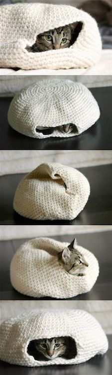 Use Google translate - Crochet cat pod