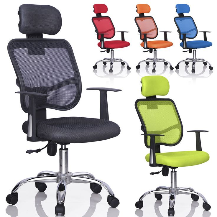 New Mesh Swivel Back Office Ergonomic Computer Chair w/ Adjustable Head Rest US #Worldpride1