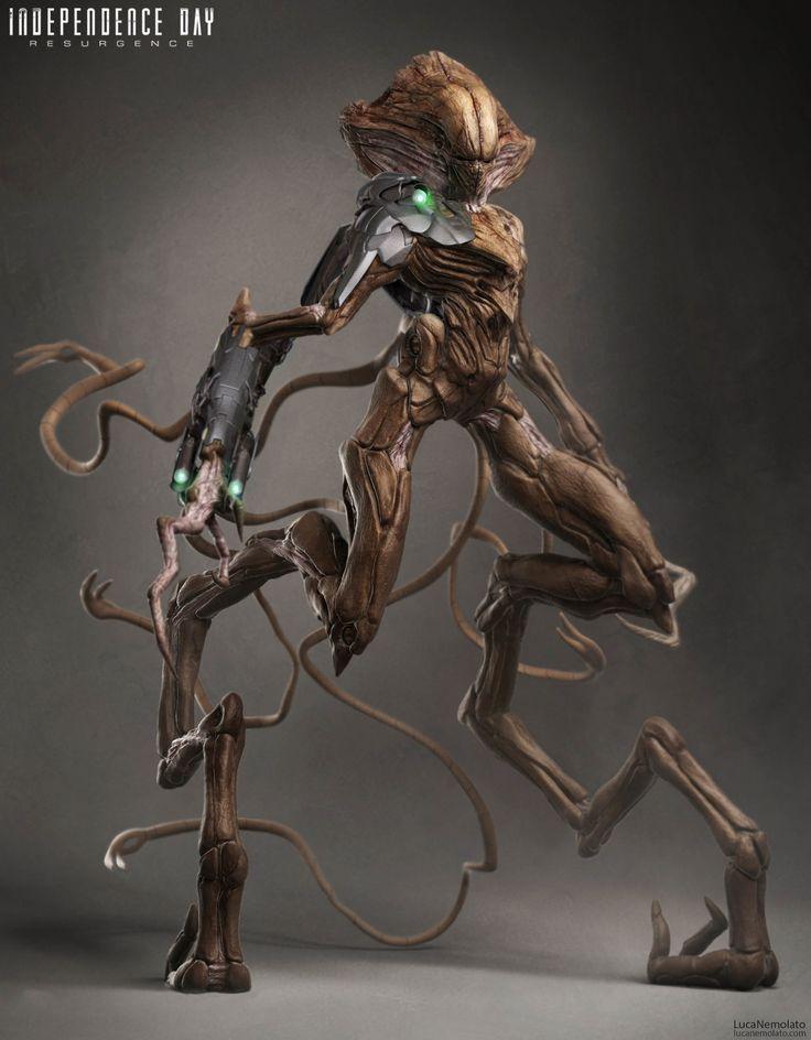 ArtStation - Independence Day Resurgence - Alien General Concept Art, Luca Nemolato