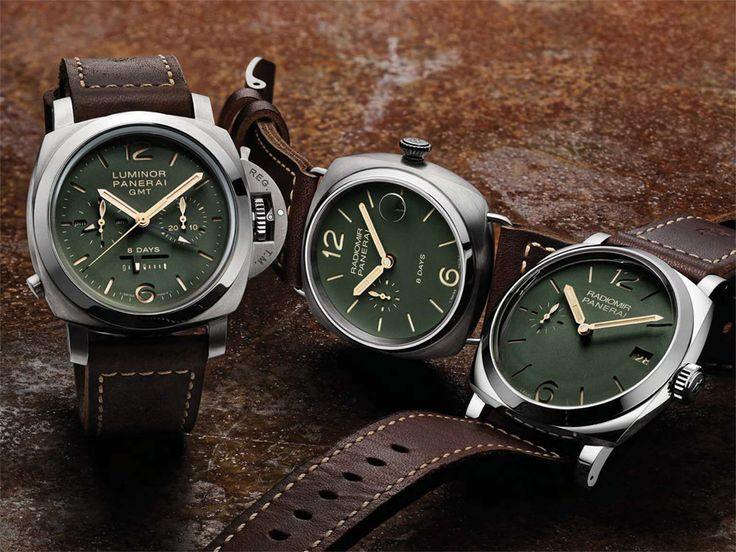 Panerai adds three limited edition watches to their collection.  Check out these green-dialed pieces.