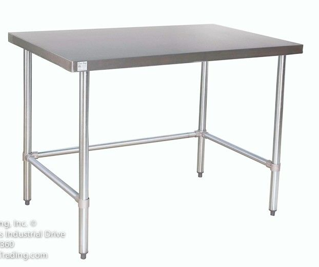 counter height stainless steel prep tables | Stainless ...