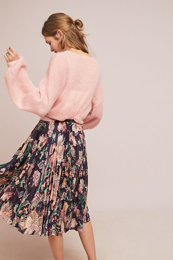 d06c8a866d Anthropologie, Floral Pleated Skirt, Skirts, Shopping, Clothes, Style, Fall  2018