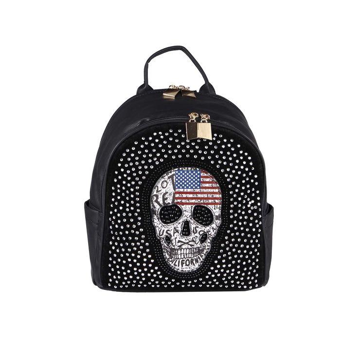 SKULL BACKPACK BAG Rhinestones City backpack Shoulderbag Handbag: £30.41 End Date: Saturday Sep-9-2017 20:33:07 BST Buy It Now for only:…