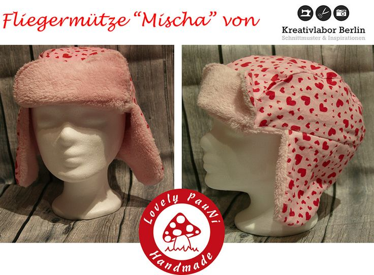 "Fliegermütze ""Mischa"" von Lovely PauNI: http://de.dawanda.com/product/92147803-schnittmuster-fliegermuetze-fuer-erwachsene-kinder"