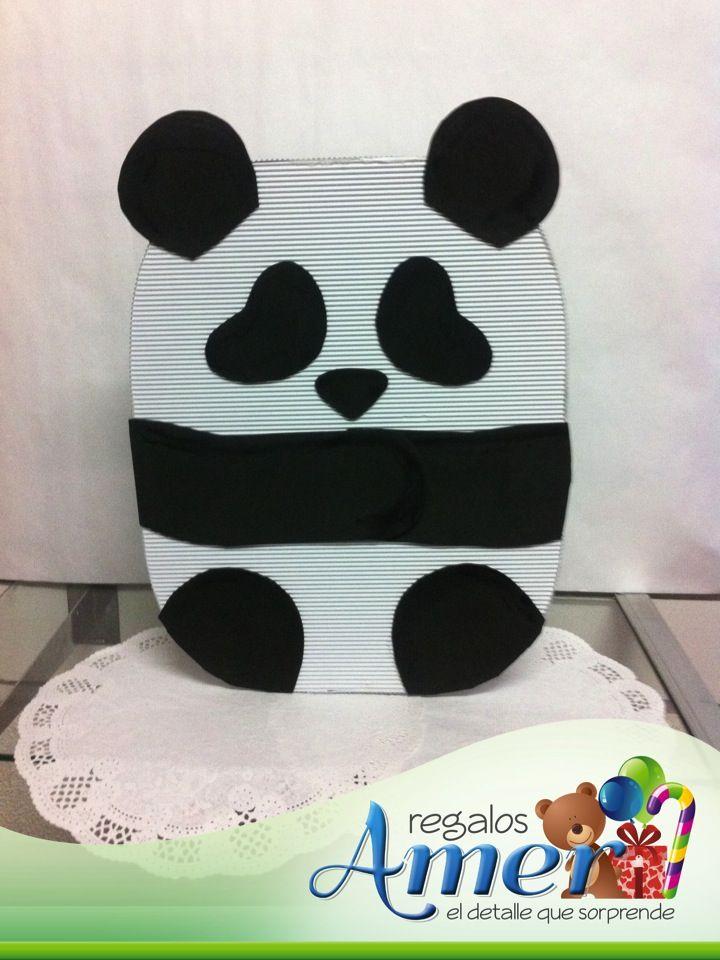 Cajas para regalos, oso panda. | Entregas a domicilio ...