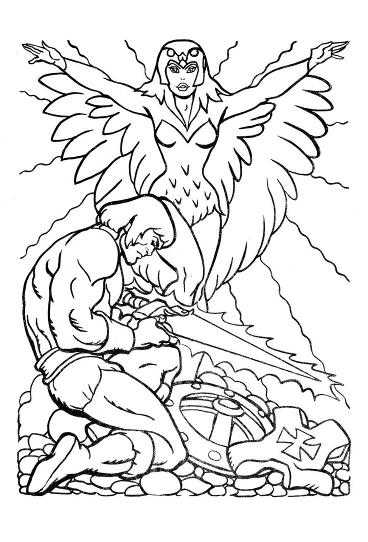 Free coloring pages guitar - He Man Coloring Pages For Kids