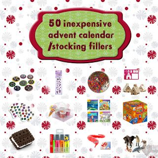 50 inexpensive advent calendar / stocking fillers