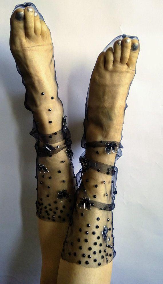 ba82017e20ea7 Sheer Cute Rhinestone Sparkle Transparent Cool Socks. Mother's Day Gift in  2019   pinterest   Socks, Hosiery, Trouser socks