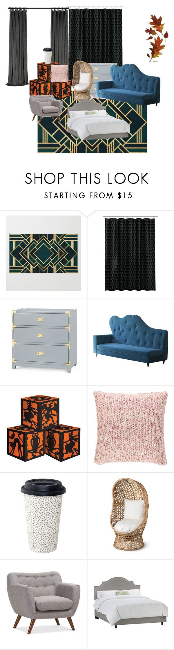 """""""Bez naslova #177"""" by summer670 ❤ liked on Polyvore featuring interior, interiors, interior design, home, home decor, interior decorating, Bungalow 5, Pine Cone Hill and Improvements"""