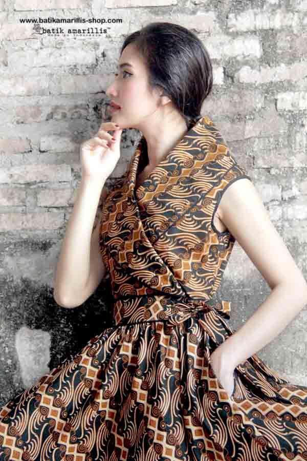 Batik Amarillis Made In Indonesia Batik Amarillis's Hey Day Wrap dress Our new…