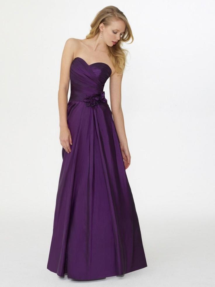 A-line Sweetheart Draped Ruched Bodice Flower Natura Waist Taffeta Bridesmaid Dress-wbm0219, $174.95