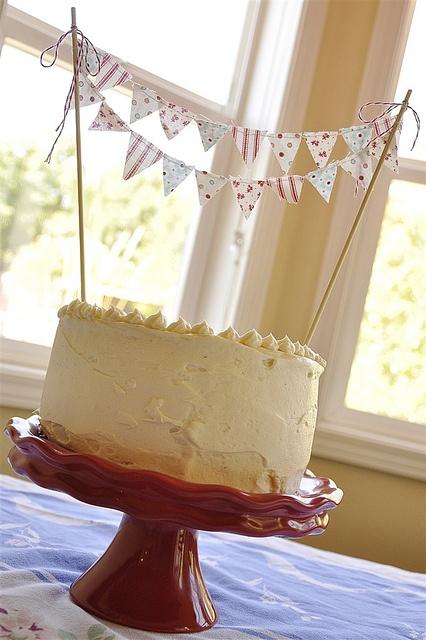 Cake Bunting @yourhomebasedmom,