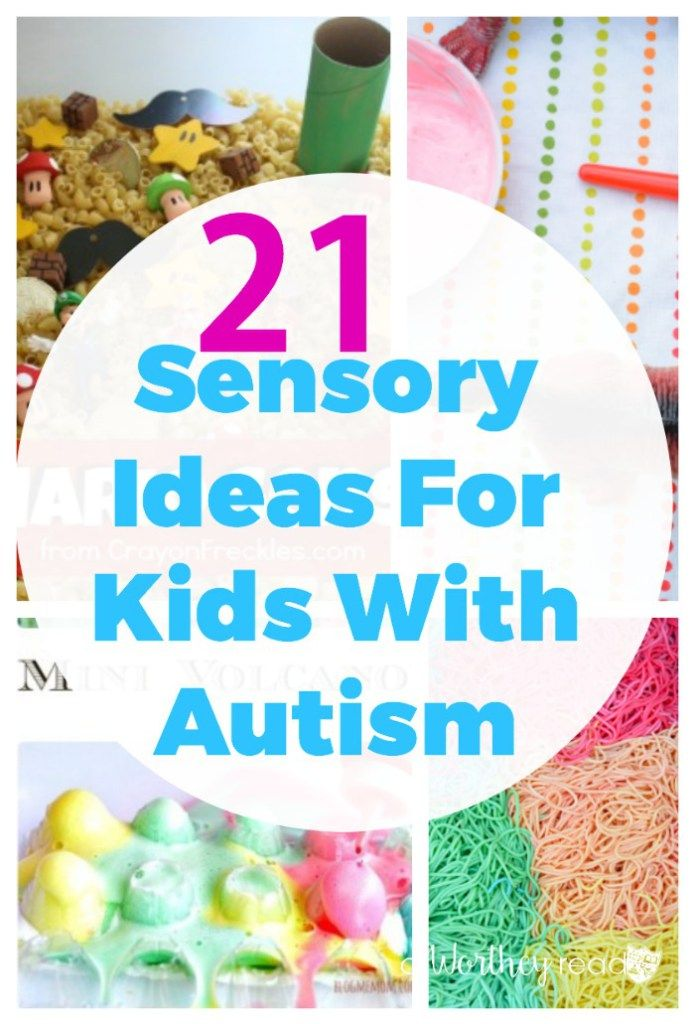 There are several ways to handle anxiety and over-stimulation for kids with Autism. Here's 21 Sensory Ideas For Kids With Autism