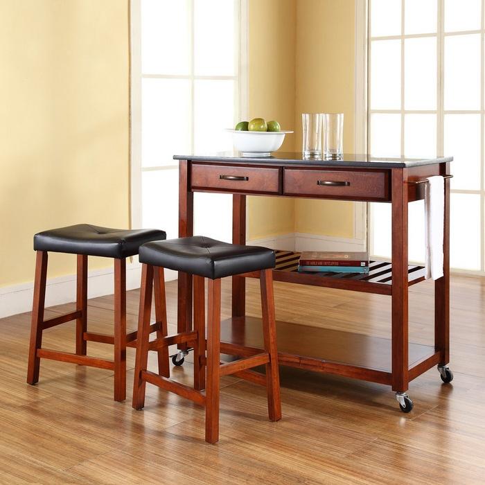 459 crosley black granite kitchen cartisland w 24. Interior Design Ideas. Home Design Ideas