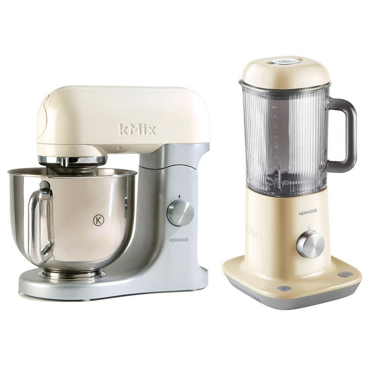 Discover the Kenwood KMix Almond Iconic Table Mixer KMX52 with Free Table Blender BLX52 at Amara