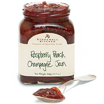 Raspberry Peach Champagne Jam - my favorite jam from Stonewall Kitchen
