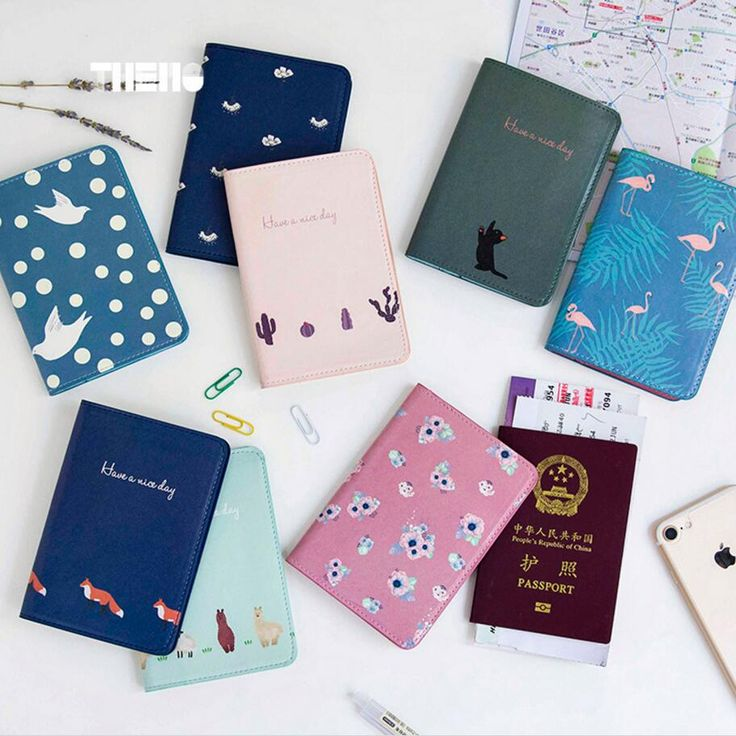 Cute Flamingo Faux Leather Case Cover for Car Driver's License ID Card Holder passport documents package Travel Organizer Case  #Affiliate
