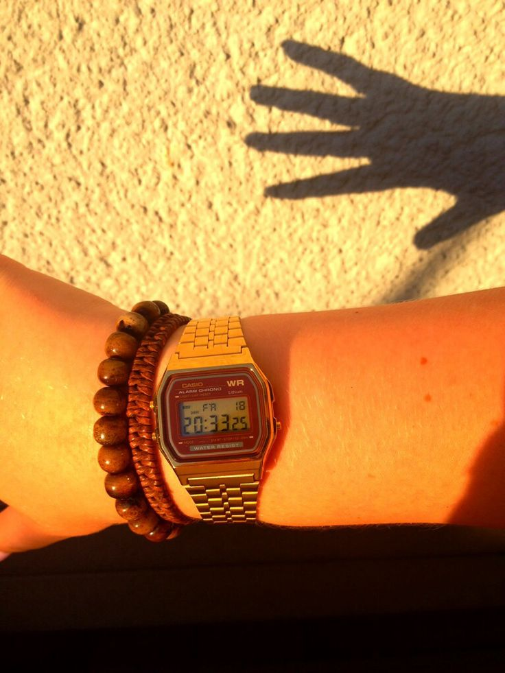Bae  Watch, casio, time, gold