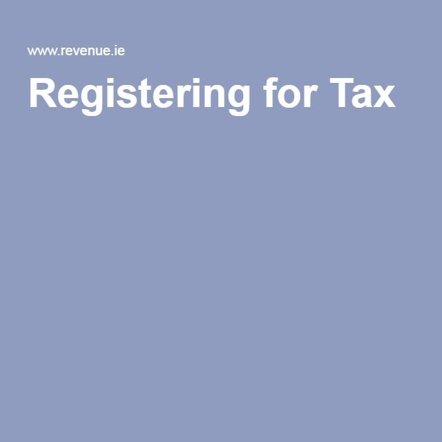 Registering for Tax