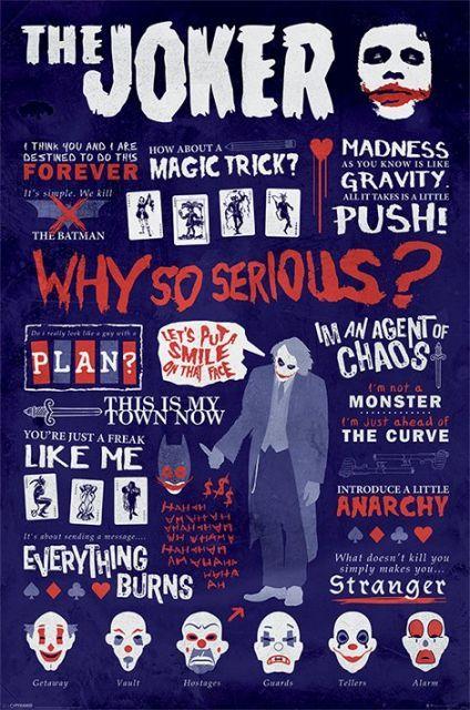 Mroczny Rycerz Joker Informacje - plakat - 61x91,5 cm  Gdzie kupić? www.eplakaty.pl