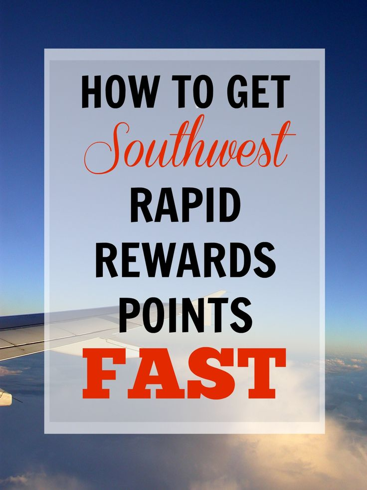 How to Get Southwest Rapid Rewards Points FAST via @gotoTravelGal - helps if you need points before the end of the year to earn the Southwest Companion Pass!