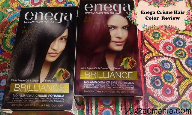 Zig Zac Mania: Enega Crème Hair Color (Black & Burgundy) Review