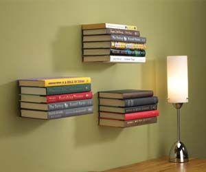 Floating Book Shelves: Decor, Book Shelf, Ideas, Invisible Bookshelf, Book Shelves, Floating Bookshelves, Floating Bookshelf, Diy, Design