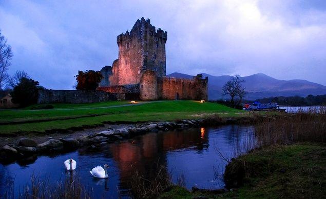 """Ross Castle in Killarney National Park, Killarney, County Kerry, Ireland."" (From: 35 Stunning Photos of Ireland)"