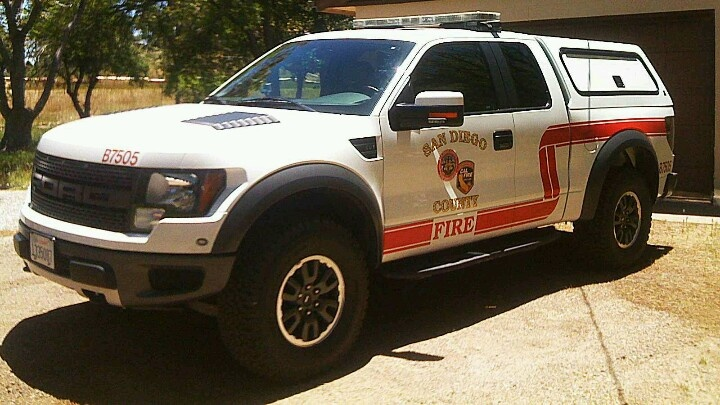 Ford Rapter converted to Fire Truck