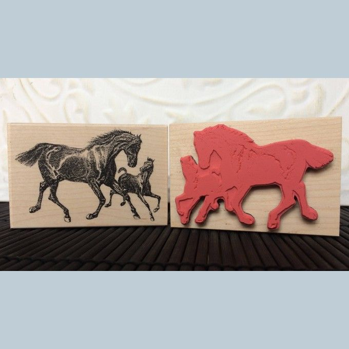 Horse and Pony Rubber Stamp from The Old Island Stamp Company