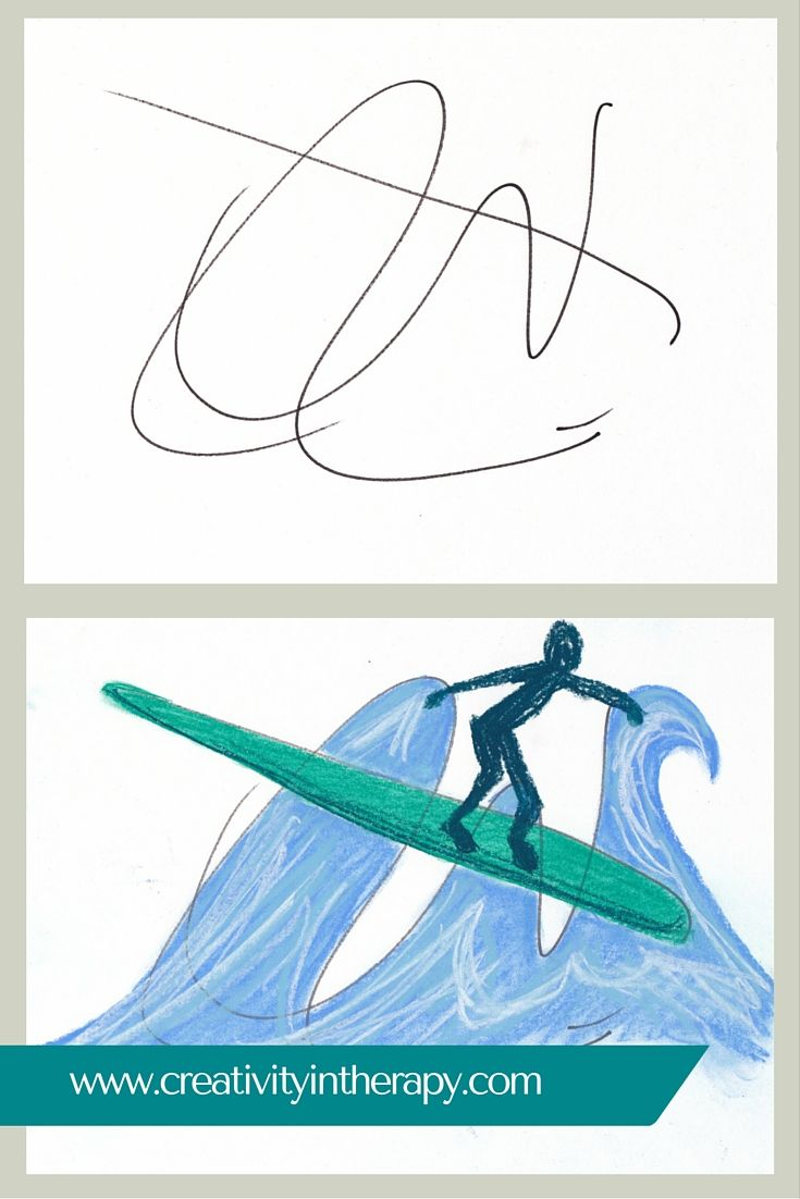 Scribble Drawing Process : If you re looking for some ideas group therapy