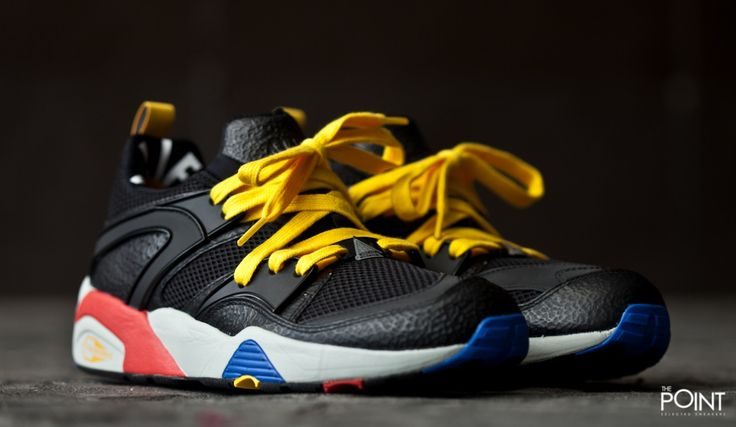Zapatillas Puma Blaze Of Glory x Alife, tenemos la oportunidad de poder contar con la colaboración de la #tiendadezapatillasAlife con la marca de #zapatillasPuma, esta vez presentando el modelo de #zapatillasPumaBlazeOfGlory en un colorway negro con toques en amarillo, rojo y azul, visita nuestra #tiendaonlinedezapatillas #ThePoint y hazte con ellas, o bien clica aquí http://www.thepoint.es/es/puma/952-zapatillas-hombre-puma-blaze-of-glory-x-alife.html