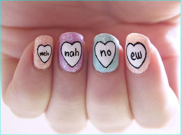 16 best 18 ridiculously sweet valentines day nail art designs 18 ridiculously sweet valentines day nail art designs prinsesfo Images