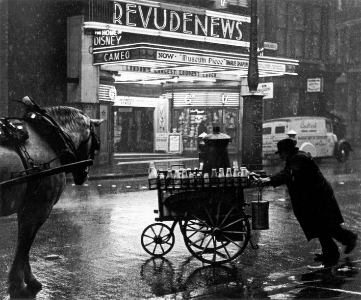 """A Milkman, Charing Cross Road, 1937 Photo by Wolf Suschitzky, from """"London Street Photography 1860-2010"""" ***please don't repost this as your own"""