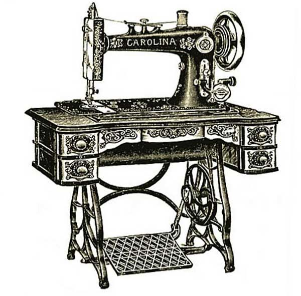 Free Clipart - Vintage Treadle Sewing Machine