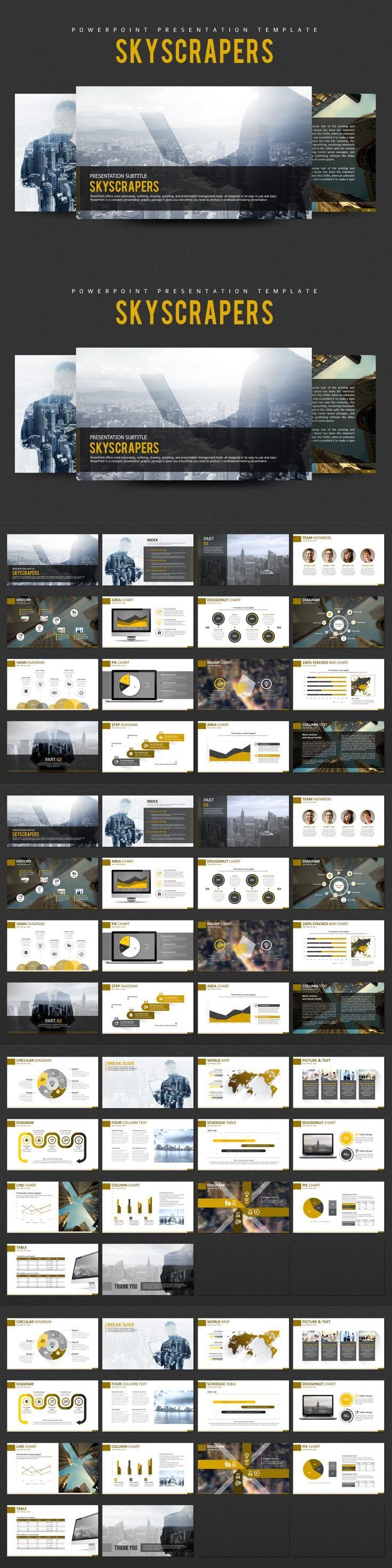 #presentation #template from Good Pello | DOWNLOAD: https://creativemarket.com/alecwang1103/716003-Skyscrapers-PPT-Template?u=zsoltczigler
