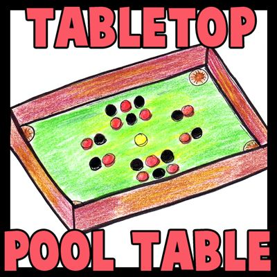 How to Make Cardboard Tabletop Billiards Pool Table Craft for Kids
