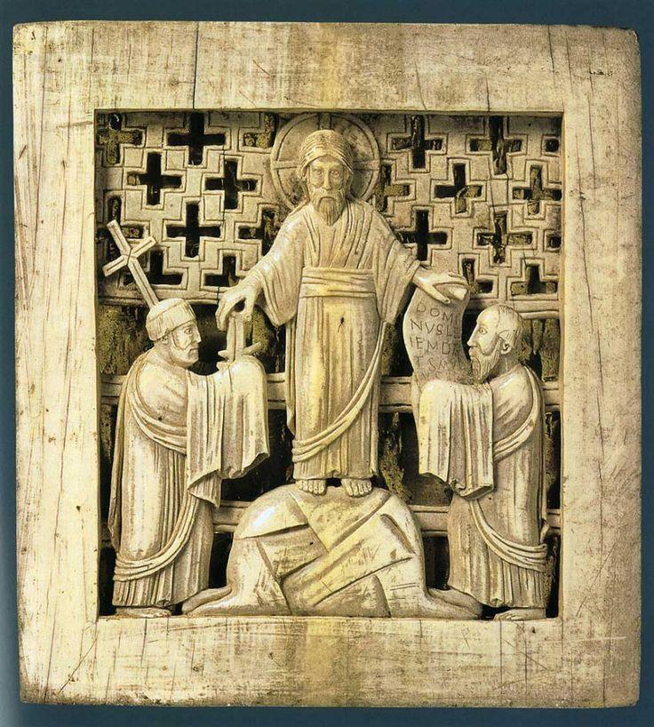Magdeburg Ivories: 'Dominus Legem Dat' | Ivory plaque ...