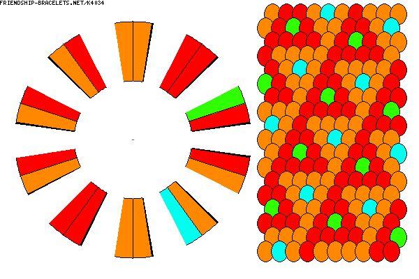K4034 - 20 strand 4 colour zigzag kumi pattern