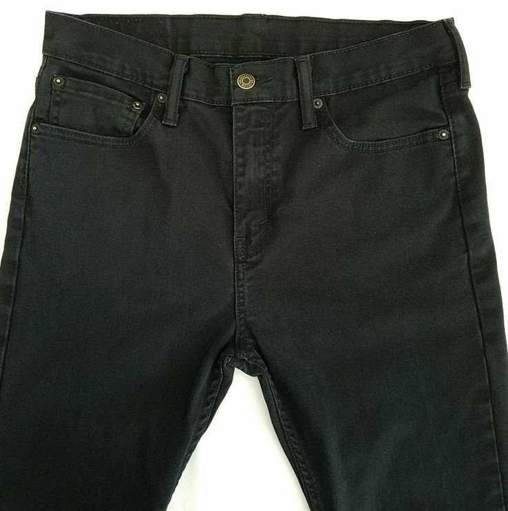 Levis 510 Black Jeans 31 x 31 Skinny Fit Stretch Zipper Fly Denim Mens #Levis #Skinny