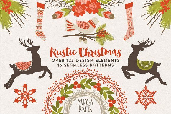 Rustic Christmas Megapack by Cocoa Mint on @creativemarket