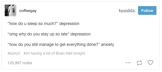 These answers that never fail: | 23 Times Tumblr Nailed Having Both Depression And Anxiety