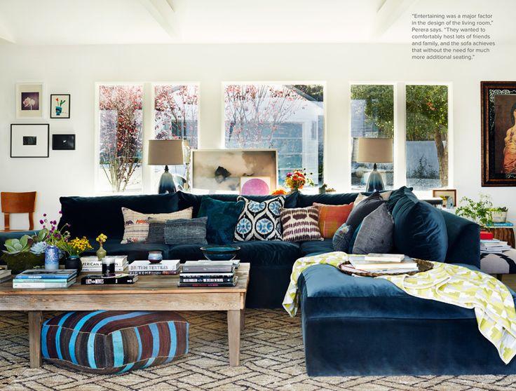 Boho Blue Living Room