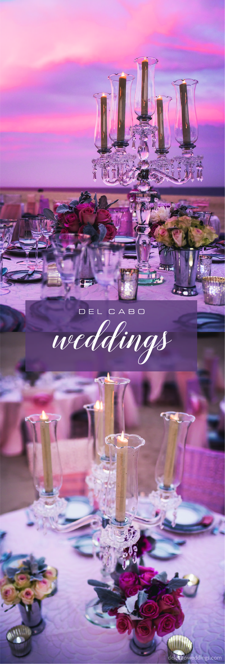 Stunning décor ideas for your reception! Feel like a real princess with Del Cabo Weddings!