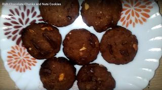Hema's HealthyYetTasty Recipes: Rich Chocolate Chunks and Nuts Whole Wheat Cookies...