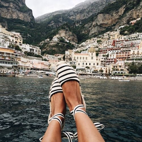not the shoes--the view!!! Positano? beautiful--makes me smile :)