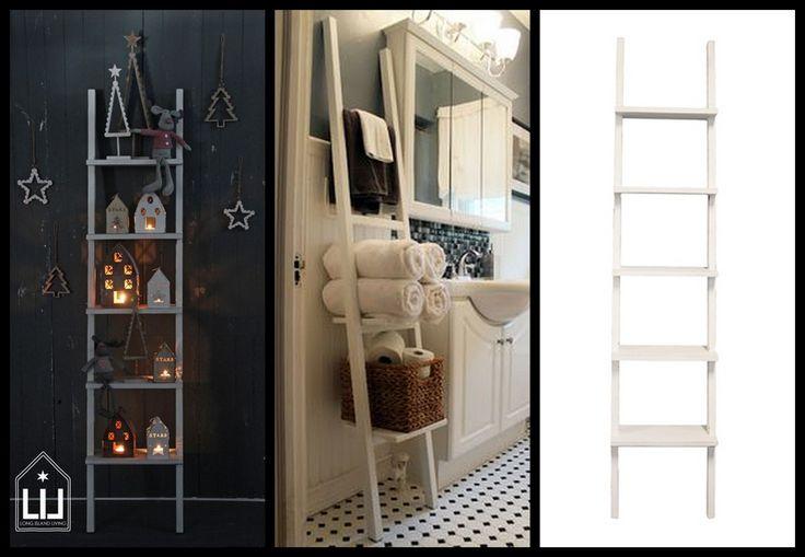 Leuk deze bibliotheekladder. Erg leuk op de babykamer, in de badkamer en in de woonkamer. http://www.blauwlifestyle.nl/nl/long-island-living-bibliotheek-ladder-wit.html